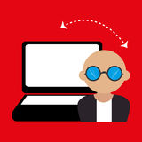 Computer user design. Illustration eps10 graphic Royalty Free Stock Photo