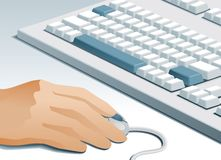 Computer user Stock Photography