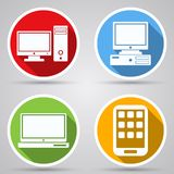 Computer vector icons Stock Image