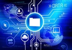 Computer-Vernetzungs-Vektor Lizenzfreies Stockbild