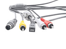 Computer and video cables. Royalty Free Stock Image