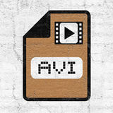 Computer video file icon. Design Royalty Free Stock Image