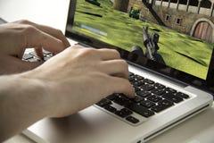 Computer videogame Stock Image