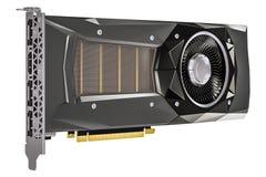 Computer videokaart GPU, het 3D teruggeven Stock Afbeelding