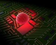 Computer virus. Concept. 3D image Vector Illustration