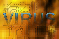 Computer virus Royalty Free Stock Photo