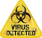 Computer virus alert. Grungy sign, industrial style Stock Photo