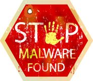 Computer virus alert Royalty Free Stock Images