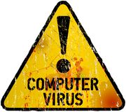 Computer virus alert sign, Royalty Free Stock Photo