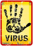 Computer virus alert Stock Photo