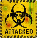 Computer virus alert sign Royalty Free Stock Photo