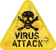 Computer virus attack Royalty Free Stock Photo