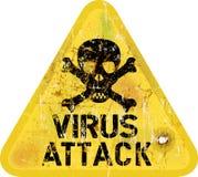 Computer virus attack vector illustration