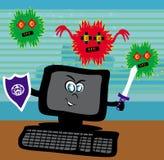 Computer virus attacking Royalty Free Stock Photos