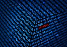 Computer virus  binary code   data concept Stock Photos