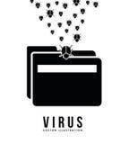 Computer virus. Design, vector illustration eps10 graphic Stock Photos