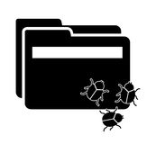 Computer virus. Design, vector illustration eps10 graphic Stock Images