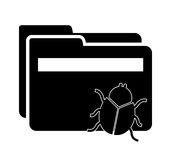 Computer virus. Design, vector illustration eps10 graphic Royalty Free Stock Photos