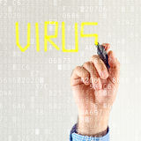 Computer virus detection Royalty Free Stock Photo