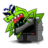 Computer virus vector illustration