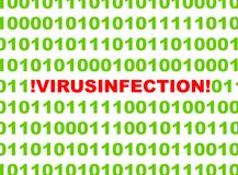 Computer virus infection Royalty Free Stock Image
