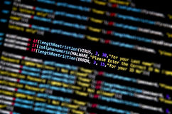 Computer virus and Mal ware attack. And screen of source code and abstract technology background, Developer and programming with coding Royalty Free Stock Image