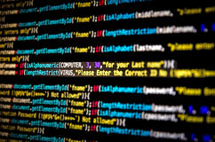 Computer virus and Mal ware attack. And screen of source code and abstract technology background, Developer and programming with coding Stock Photography