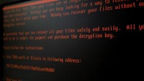 Computer virus Petya A. stock footage
