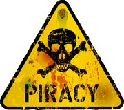 Computer virus, piracy. Phishing warning sign,vector Royalty Free Stock Photos