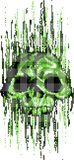 Computer virus skull concept Stock Images
