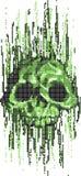 Computer virus skull concept royalty free illustration