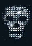 Computer virus skull danger concept. Stock Photos