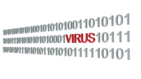 Computer virus on white background Stock Image