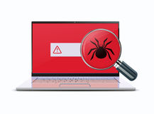 Computer viruses concept Stock Photos