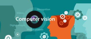 Computer vision technology illustration digital image recognition Stock Image