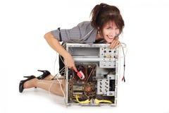 Computer washing Royalty Free Stock Image