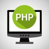 Computer web development php Stock Photography