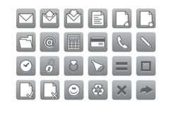Computer and web icons Royalty Free Stock Images
