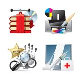 Computer & web icons V Stock Images