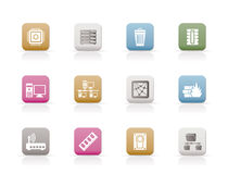 Computer and website icons Royalty Free Stock Photos