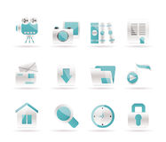 Computer and website icons. Icon set Stock Images