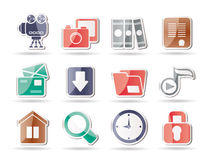 Computer and website icons Royalty Free Stock Images