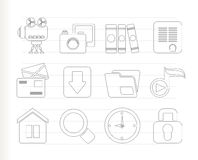 Computer and website icons. Icon set Royalty Free Stock Photography