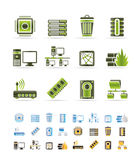 Computer and website icons - vector icon set stock illustration