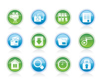 Computer and website icons Royalty Free Stock Photography