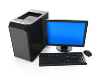 Computer on a white ba Royalty Free Stock Images