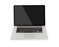 Computer on white background Royalty Free Stock Image