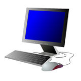 Computer on a white background Royalty Free Stock Images