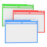 Computer window. Royalty Free Stock Images