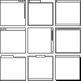 Computer window frames Stock Images